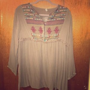 Tops - Ornate Embroidered Shirt
